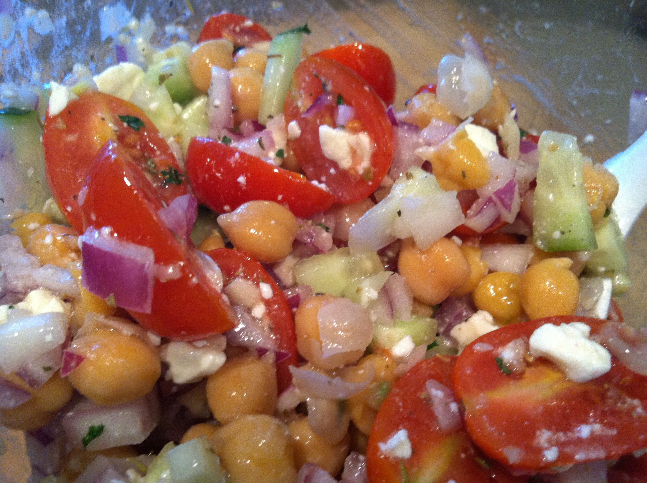 mediterranean chickpea salad | spill the beans