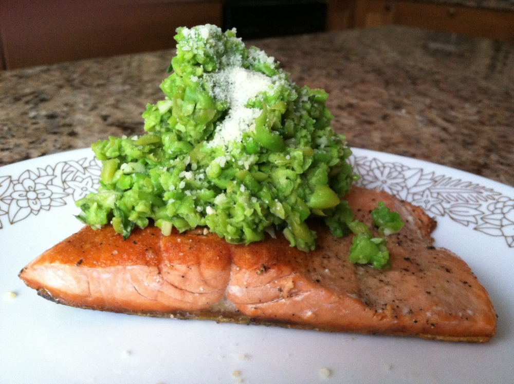 salmon and pea pesto 006