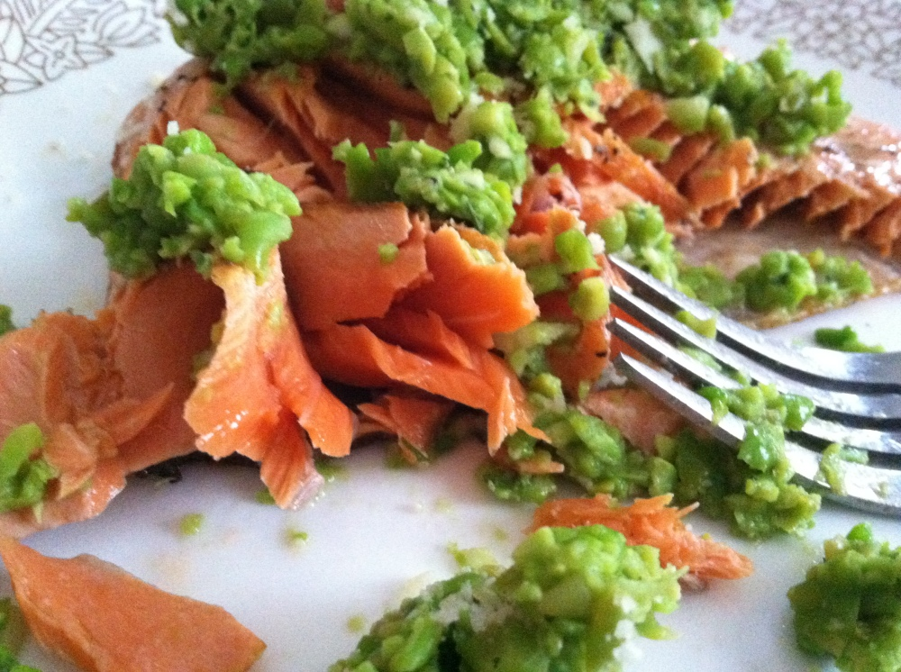 salmon and pea pesto 007