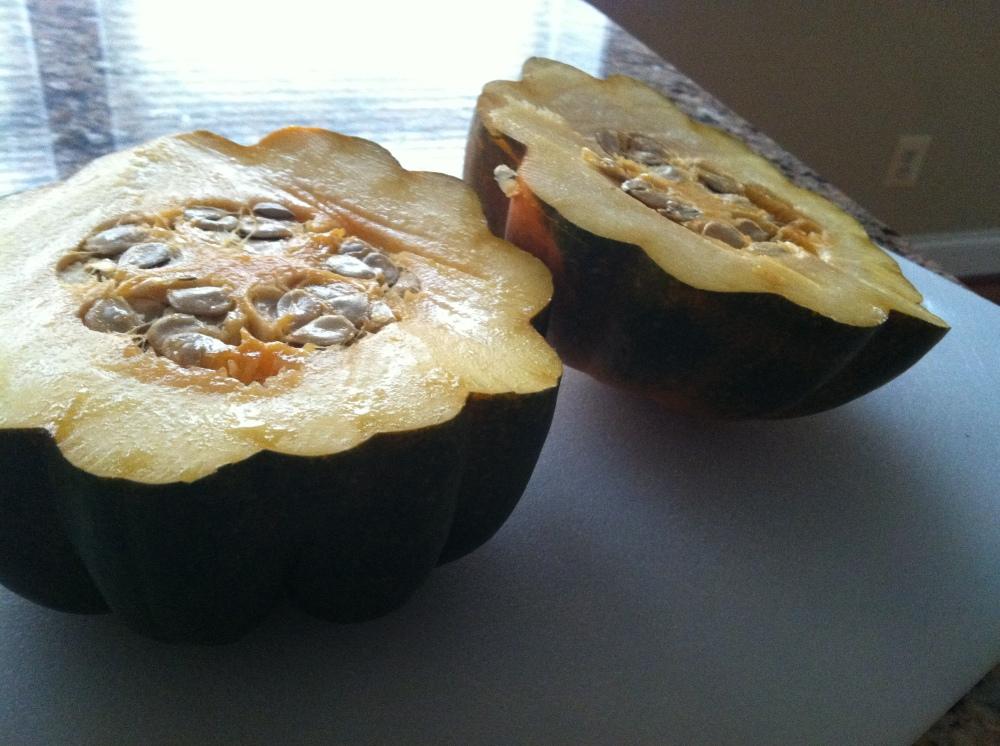 stuffed acorn squash 014