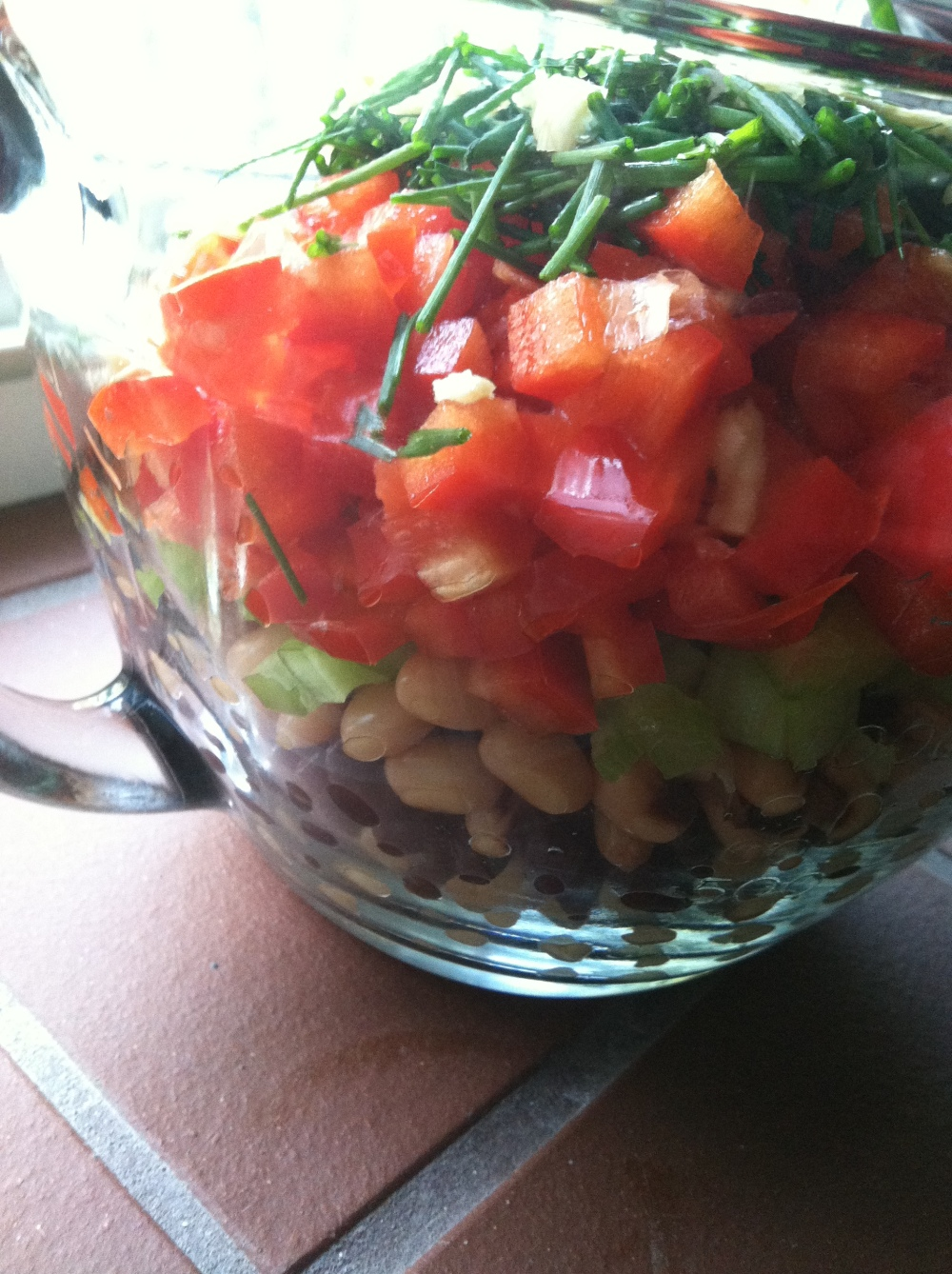 bean salad smoothie 009