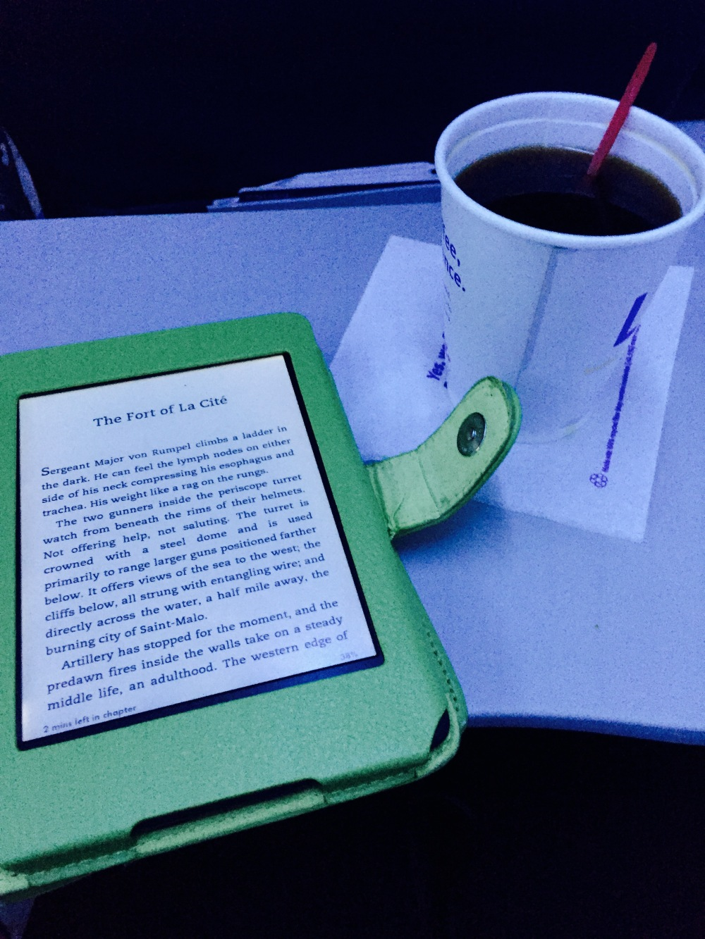 many things go better with a good book than airplane coffee