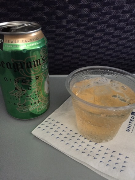 The only time I drink soda is on airplanes, and it has to be ginger ale.