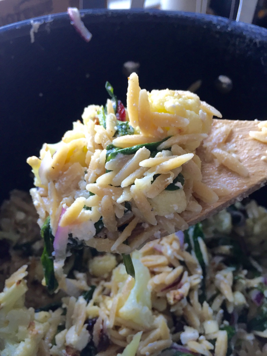 cauliflower & orzo salad