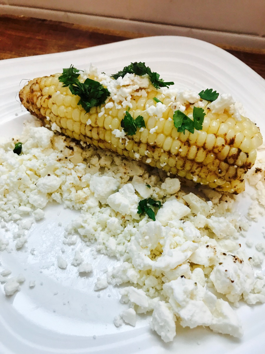 grilled corn with old bay butter